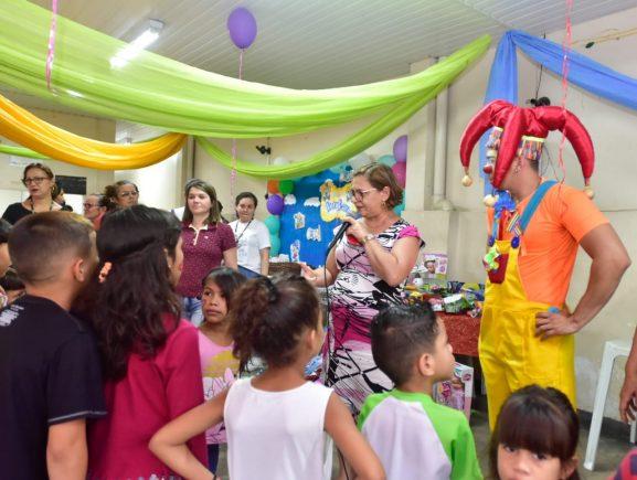 Seas realiza festa circense para crianças do Abrigo do Coroado