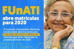 FUnAT I abre inscrições para 3 mil vagas de cursos  e oficina de extensão para 2020